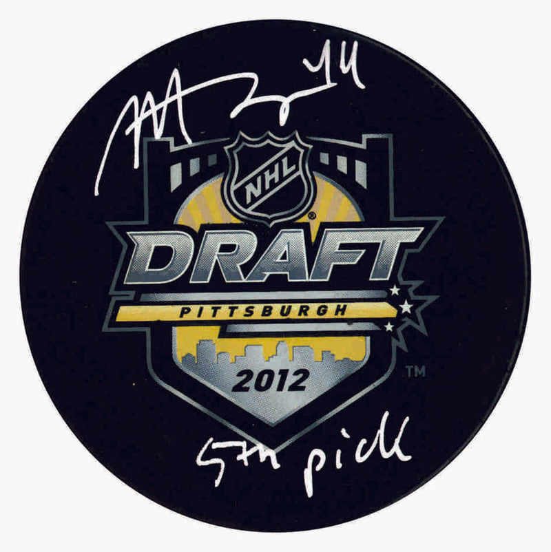 Toronto Maple Leafs Morgan Rielly Signed Draft Puck w/Inscription