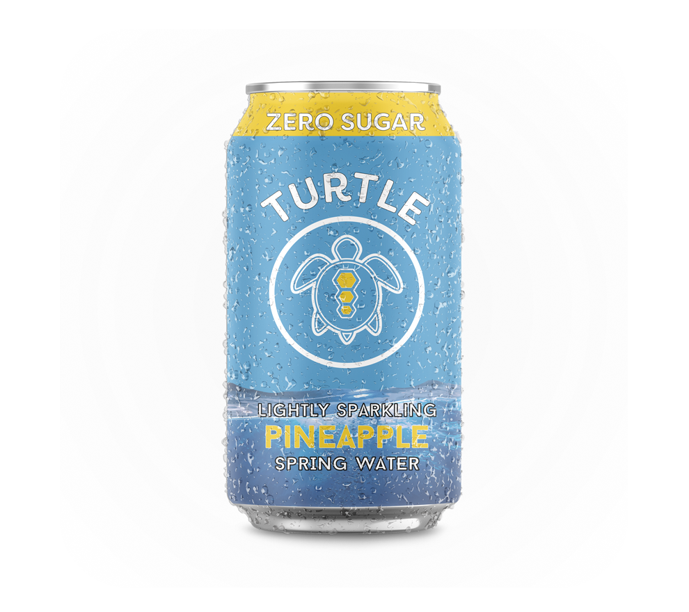 Turtle Sodas Pineapple Zero Sugar Sparkling Drink x 24