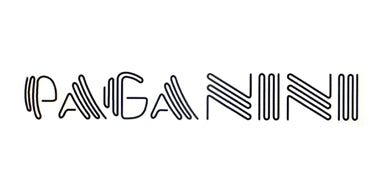 The Paganini logo, representing the fact that The Hackney Peddler bike shop, in Stoke Newington, stocks Paganini frames.