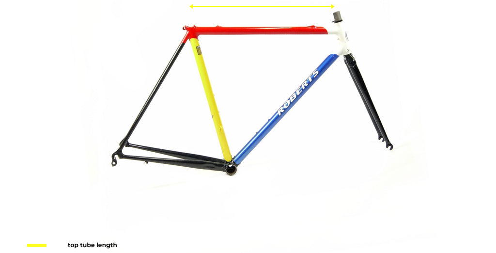 top tube lenght chart for a bicycle frame