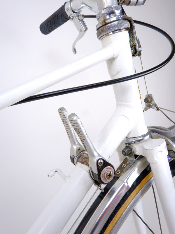 Downtube shifters closeup.