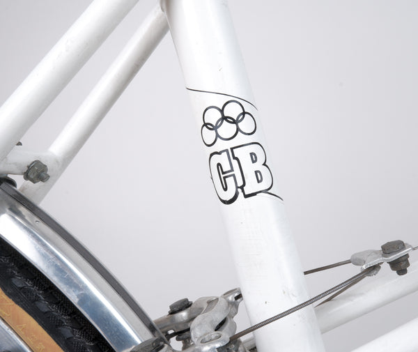 Seat tube 'Claud Butler' logo.