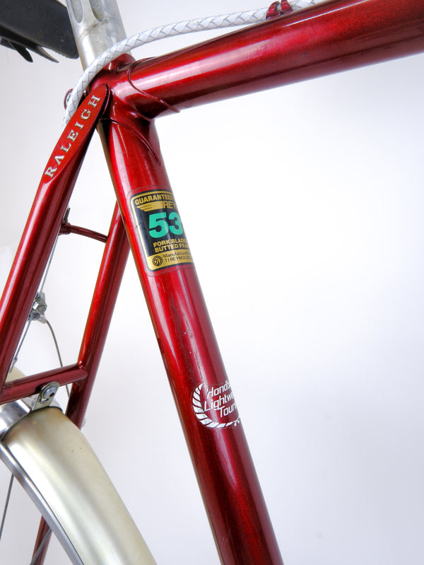 Seat tube '531' sticker.