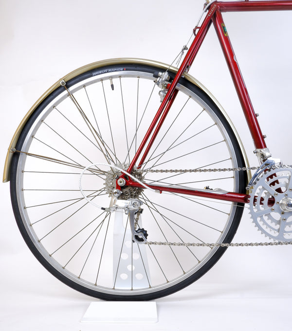 Raleigh Royal Red 58cm rear whele, cassette and derailleur.