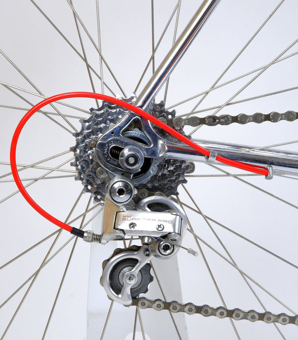 rear derailleur and cassette.