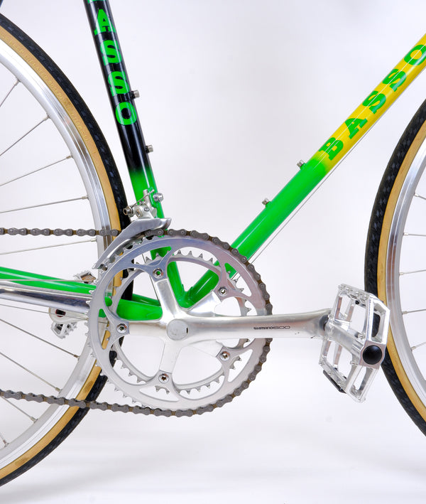 Basso Loto Green 52cm 'Shimano 600' Crank and pedals.