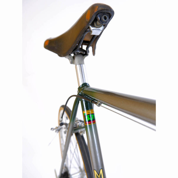 Major Nichols Green 53cm seat clamp and saddle.