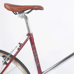 Faggin red step through bike seat clamp