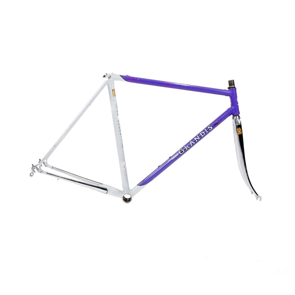 Grandis Columbus steel frame purple and white drive side