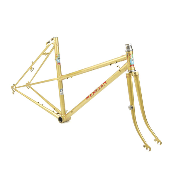 Mercian step through gold side angle