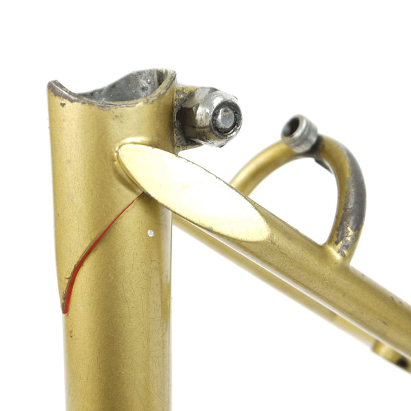 Mercian step through gold seat clamp close up