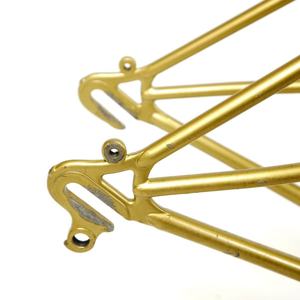 Mercian step through gold rear dropouts, with eyelets