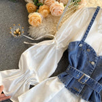 Two Piece Denim Halter Shirt Set