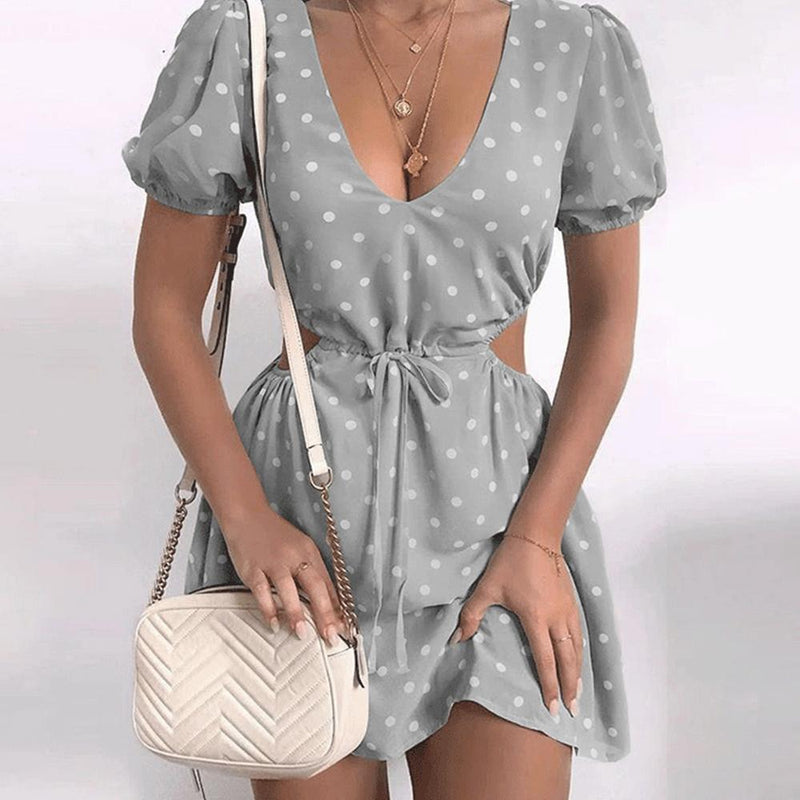Polka Dot V-Neck Dress