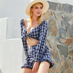 Casual Plaid Suit