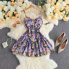 Flower Suspender Dress