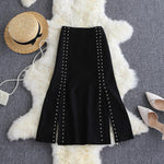Two-piece Chain Top And Split Skirt