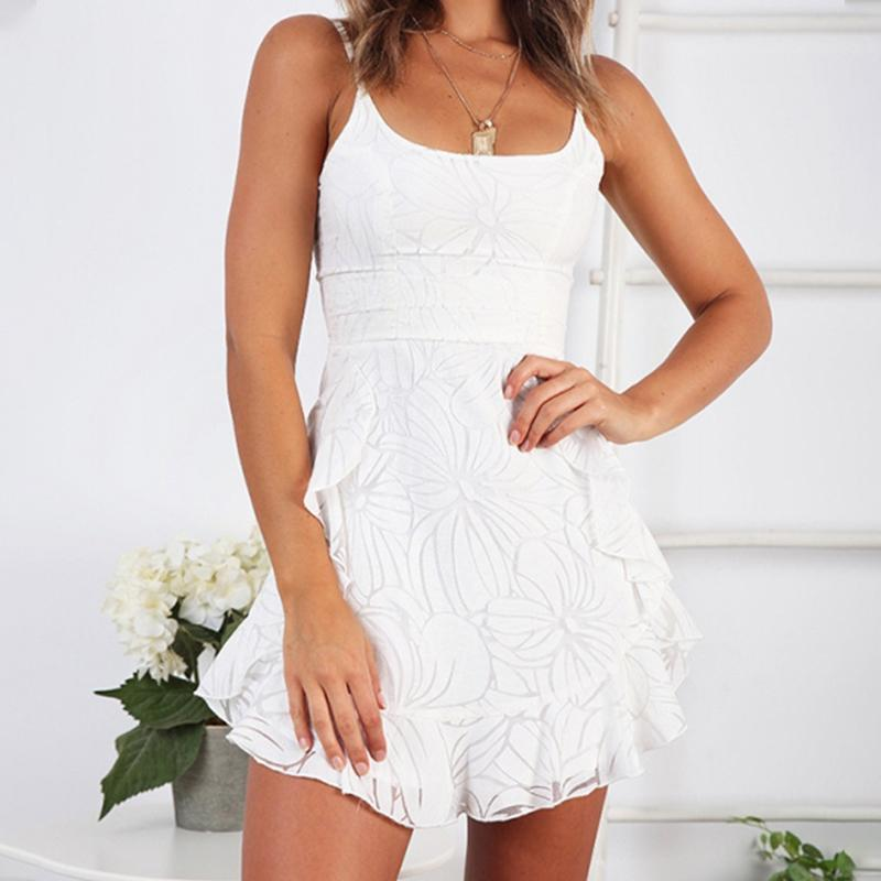Ruffles Solid Color Dresses