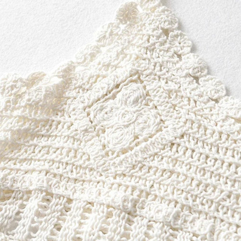 Knitted Hollow Lace Vest