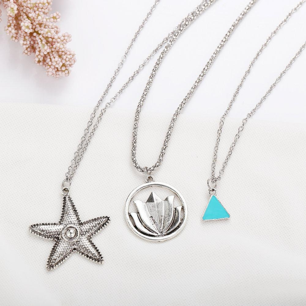 Starfish Lotus Necklace