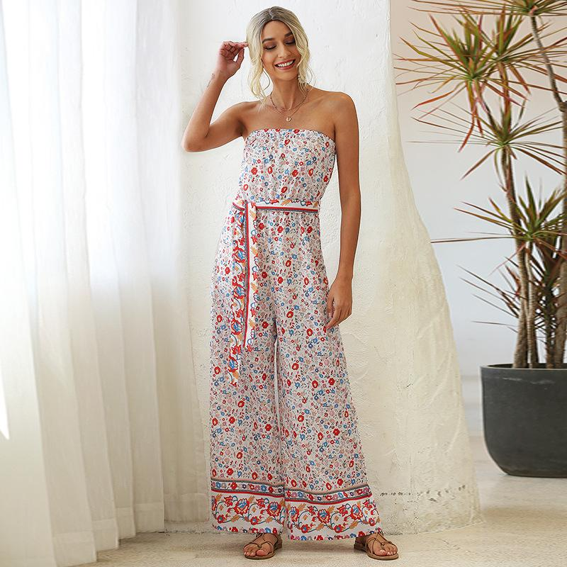 Printed Loose Jumpsuit
