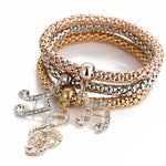 Butterfly Crystal 3pcs Bracelet