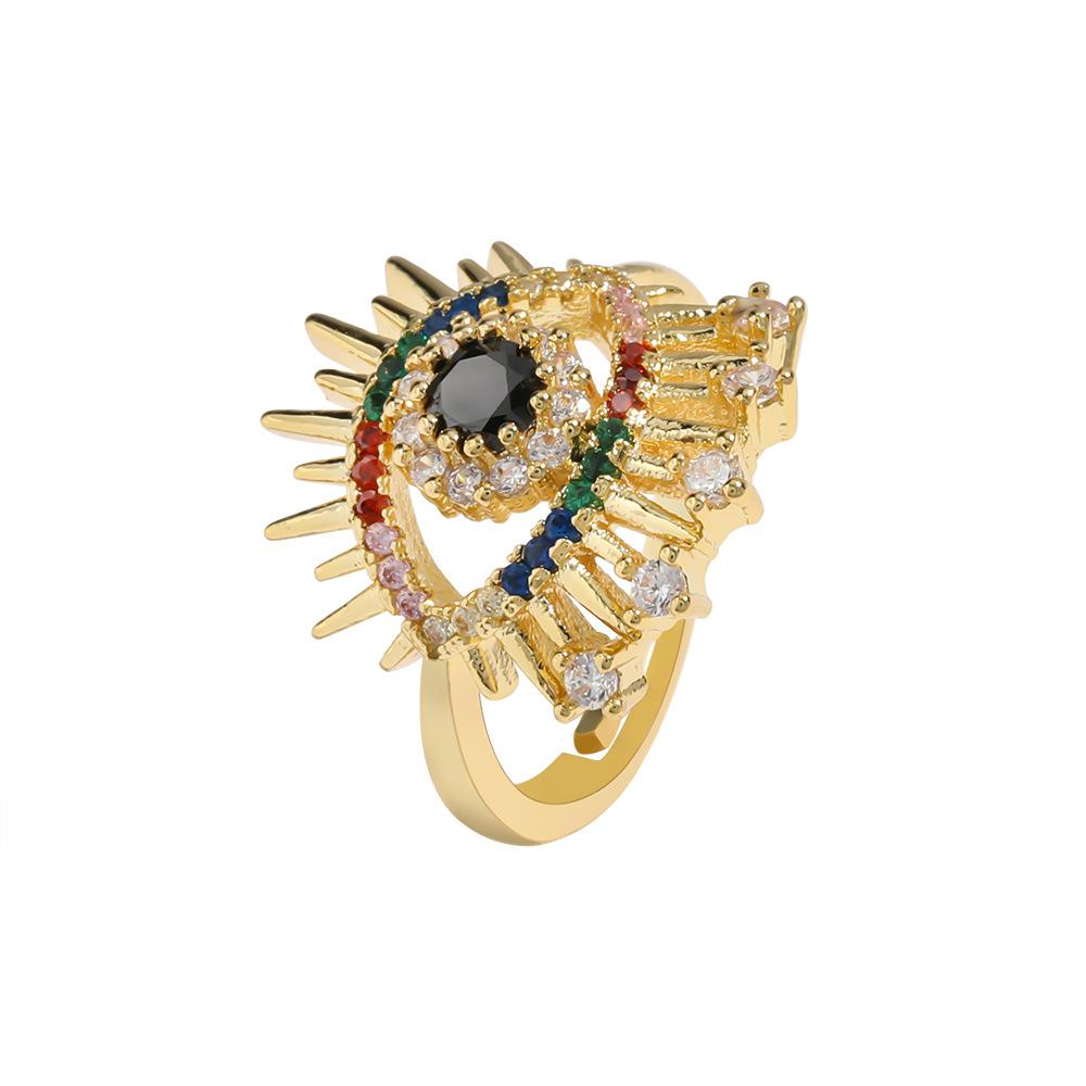 Colorful Zircon Eyes Rings