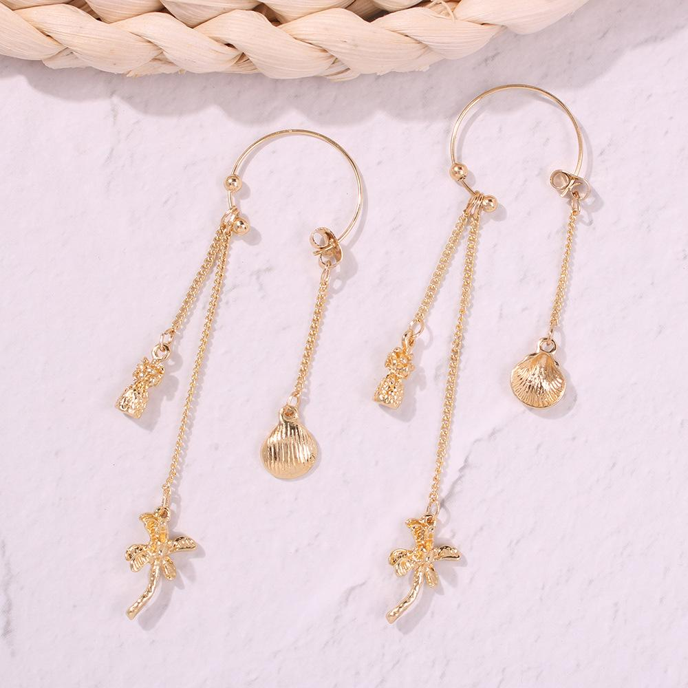 Golden Beach Drop Earrings