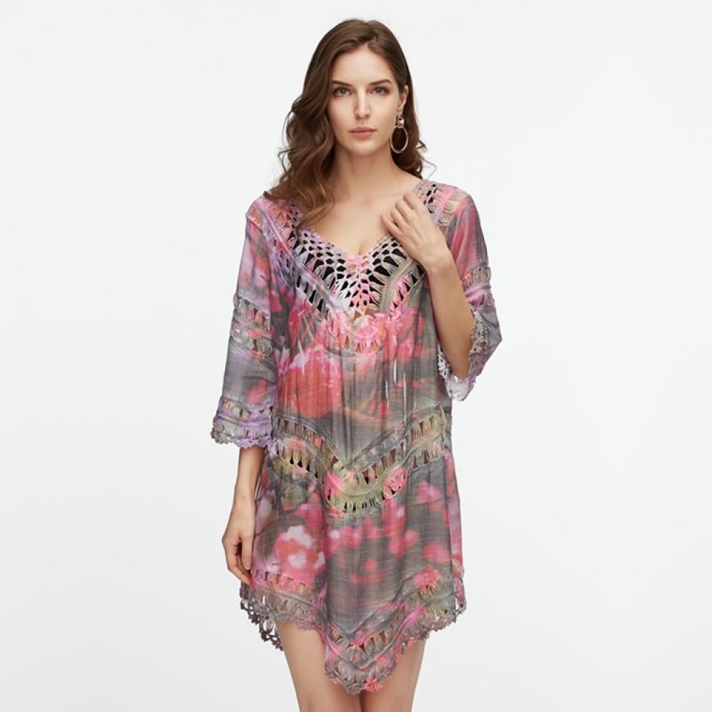 Colorful Printed Beach Dress