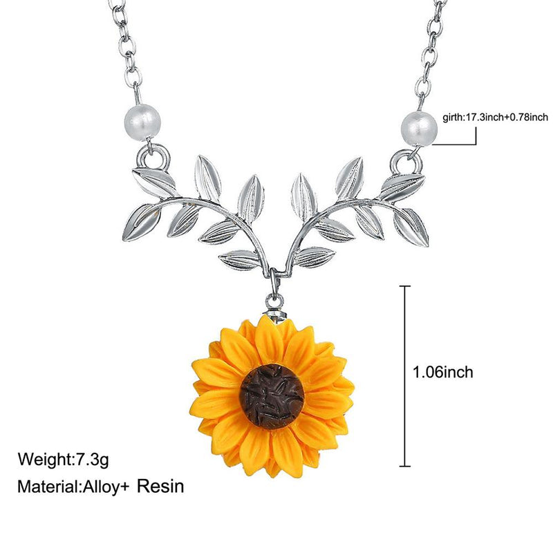 Sunflower Design Necklace