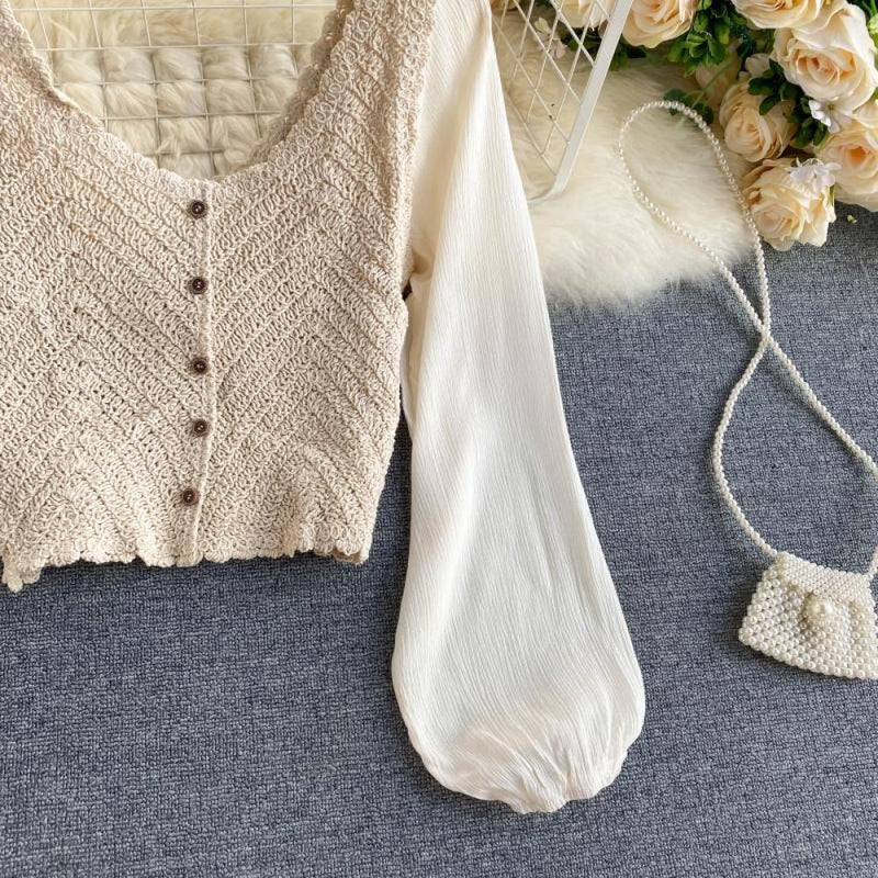 Knited V-Neck Top