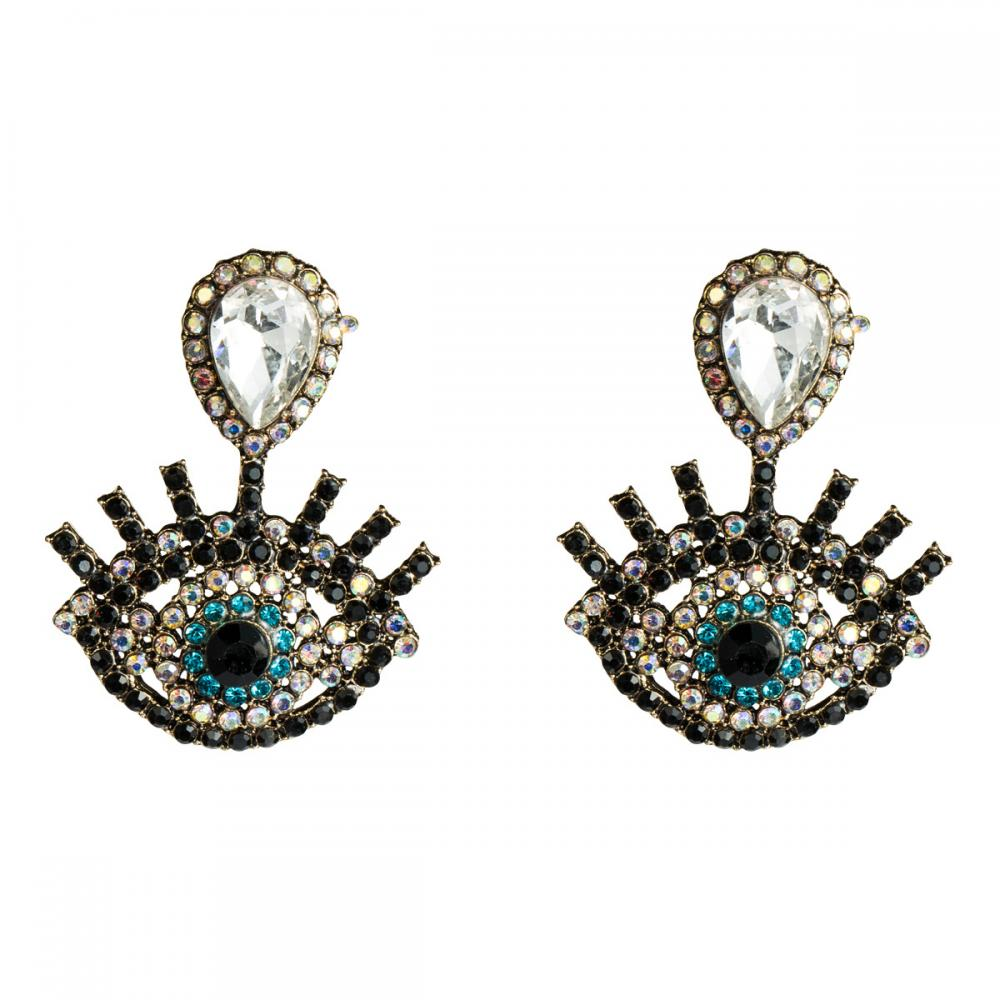 Retro Eyes Drop Earrings