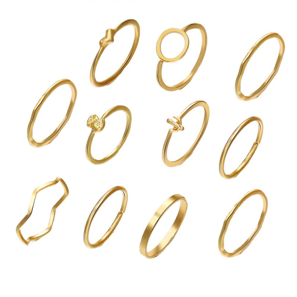 Golden 11pcs Rings
