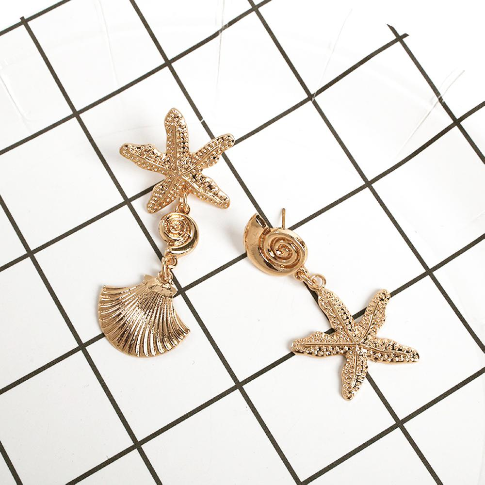 Starfish Drop Earring