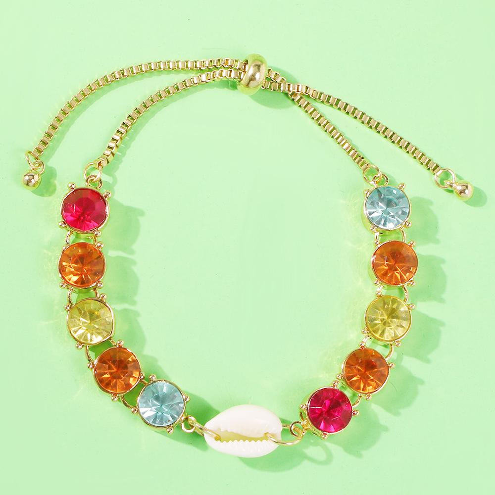 Colored Diamond Shell Bracelet