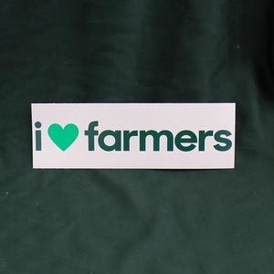 I Love Farmers Sticker