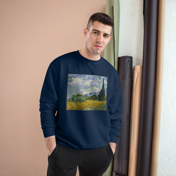 Wheat Field with Cypresses (1889) - Champion Sweatshirt
