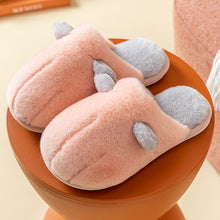 Load image into Gallery viewer, Cat's claw type cotton slippers female home household floor couple non-slip soft shoes slippers men winter warm plush cartoon co
