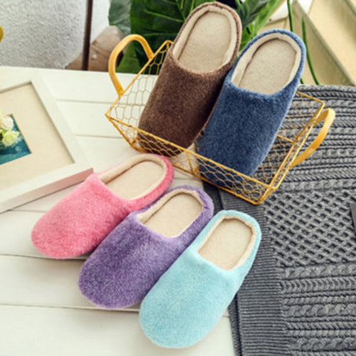 2020 Slippers Women Indoor House plush Soft Cute Cotton Slippers Shoes Non-slip Floor Home Slippers Women Slides For Bedroom