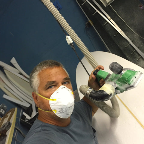 Ding All Dale in his element - surfboard shaping