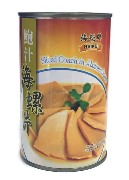 HAIKUI Sliced Conch in Abalone Sauce (Pack of 2)