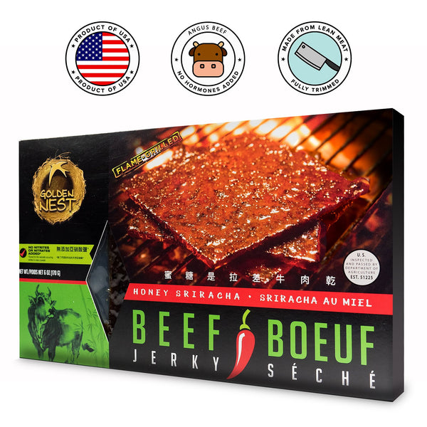 Golden Nest Jerky Sweet Sriracha Beef Jerky - Box
