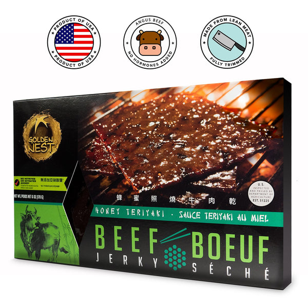Golden Nest Jerky Honey Teriyaki Beef Jerky - Box