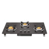 VIDIEM AIR SILVER 3 BURNER - REAR INLET BURNER MANUAL IGNITION GAS STOVE ( VDMGS-AIRSILVER3B )