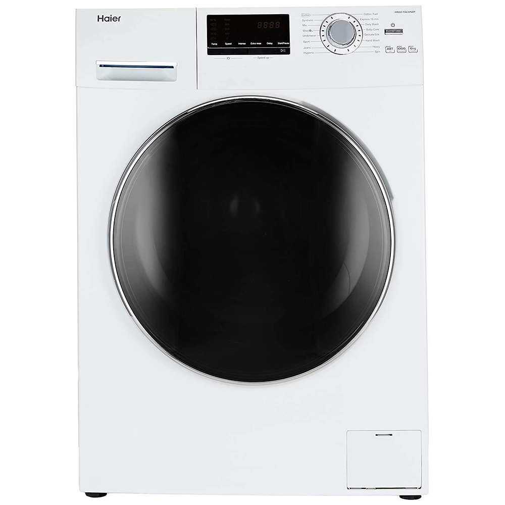 Haier 6 Kg Fully-Automatic Front Loading Washing Machine (HW60-10636WNZP, White)