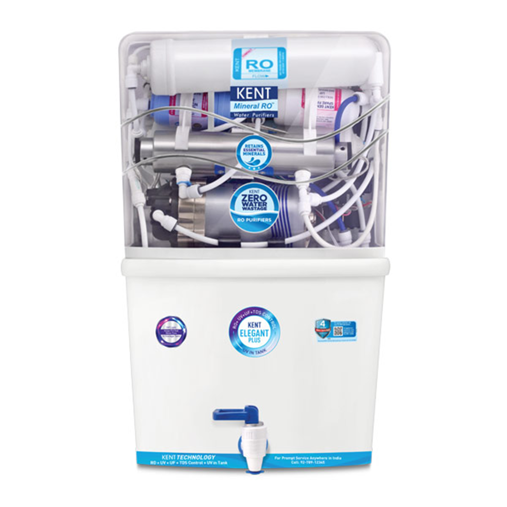 KENT Elegant Plus Fully Automatic RO Water Purifier with in-tank UV Disinfection