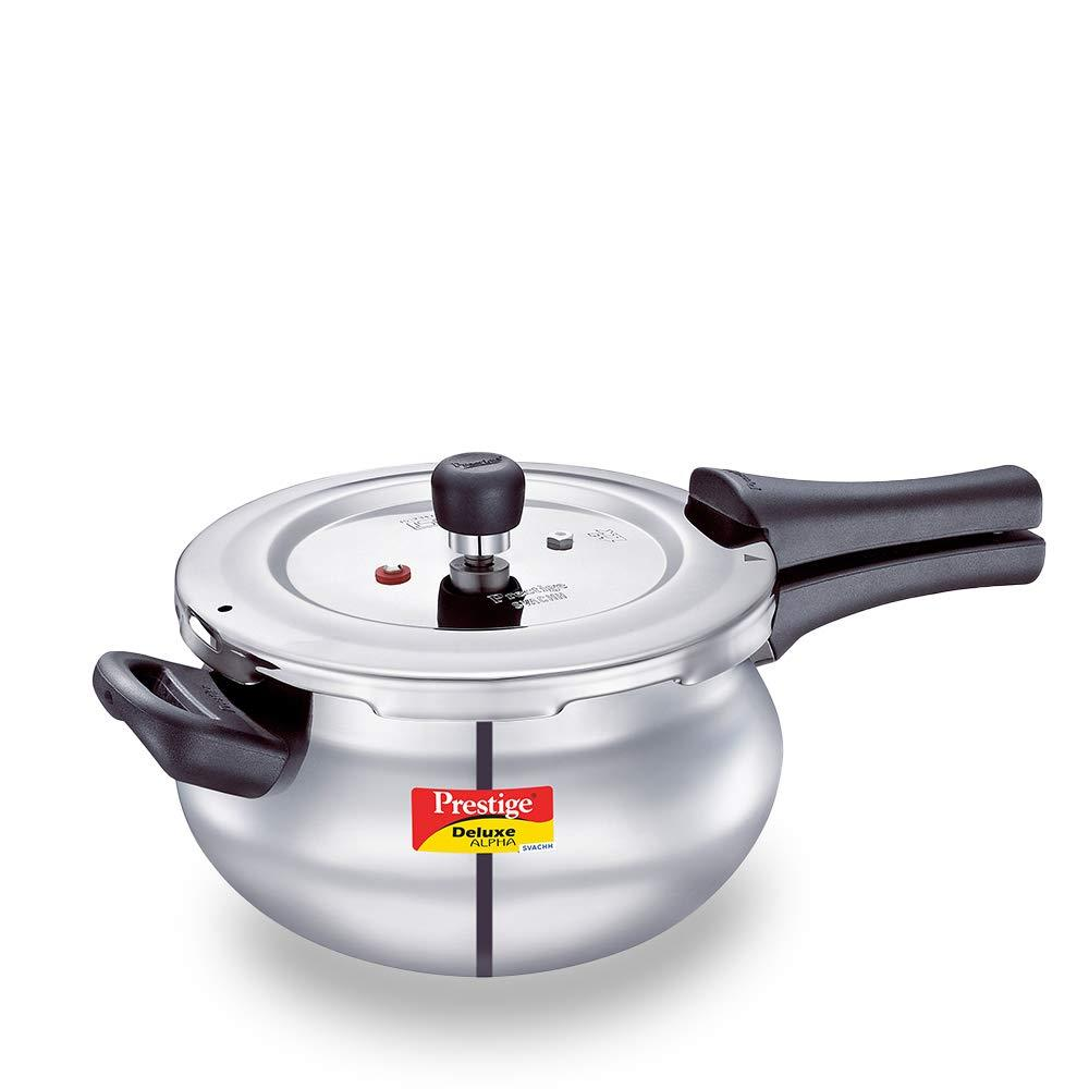 Prestige Svachh  3.3 L  Alpha Mini Handi  with deep lid for Spillage Control ( 20267 , Silver )
