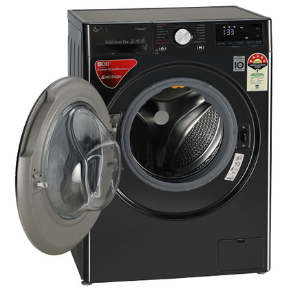 LG 7.0 Kg 1200 Rpm Fully Automatic Front Loading Washing Machine Black - FHV1207ZWB
