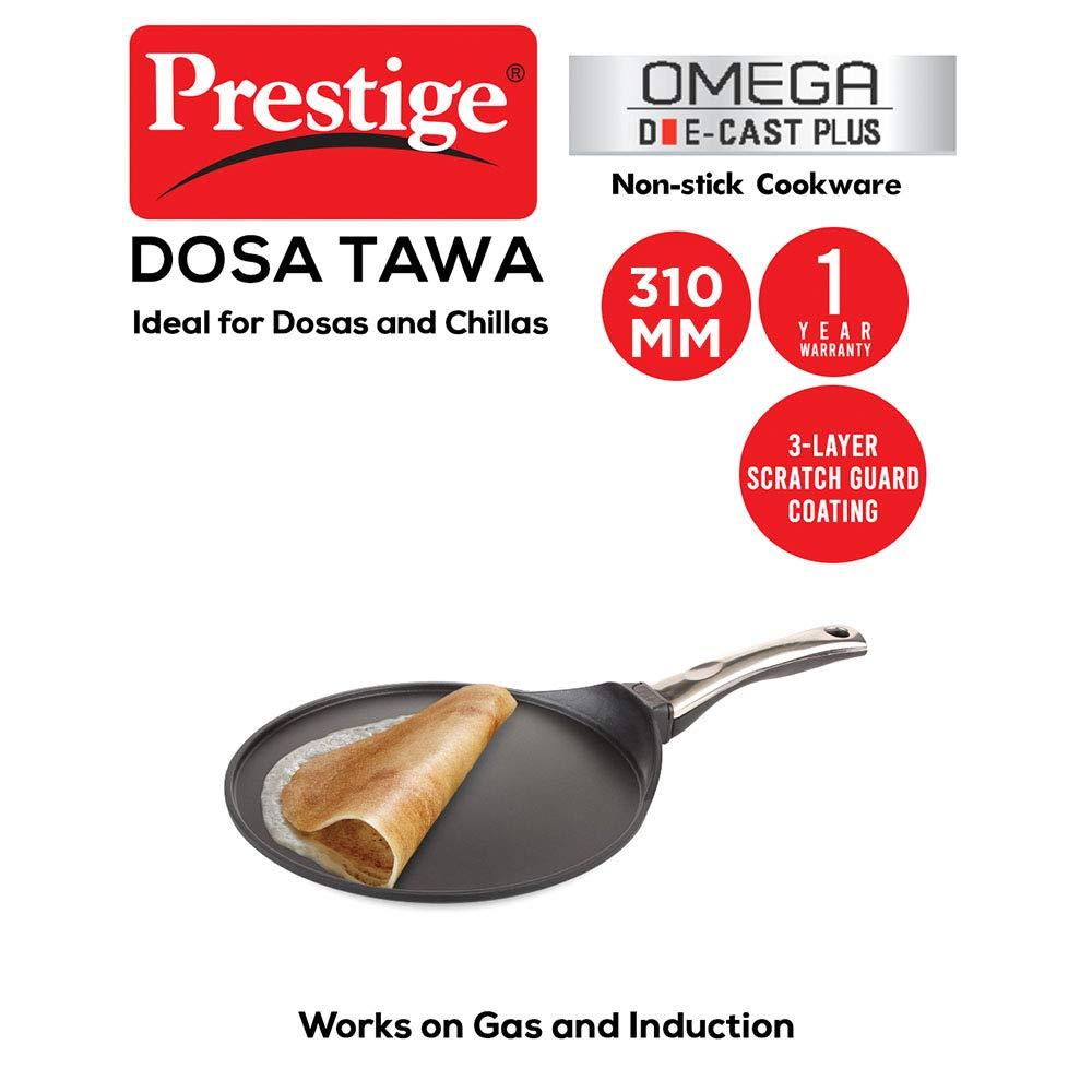 Die Cast Plus Tawa 310mm with Heat Indicator ( 30827 , Black )