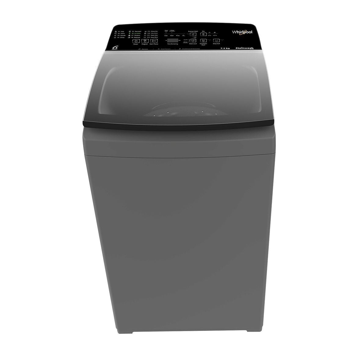 Whirlpool 6.5 Kg 4 Star Fully-Automatic Top Loading Washing Machine with In-Built Heater (STAINWASH PRO H 6.5, Shiny Grey)